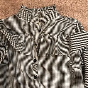 Tops - Black and white checkered blouse
